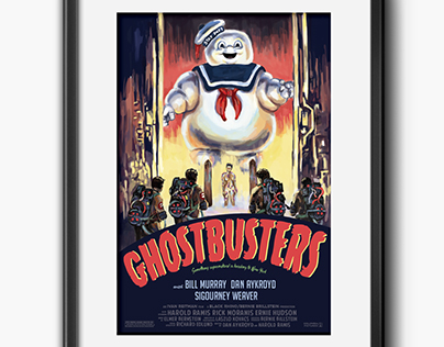 Ghostbusters Parody Movie Poster