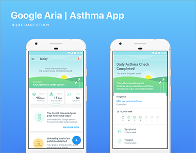 Google Aria - Asthma Management App | UI/UX Design