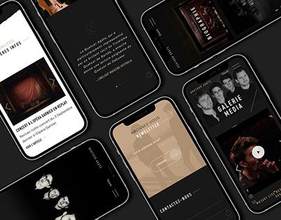 QUATUOR AGATE Website & Identity