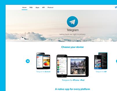 Telegram Design Concept