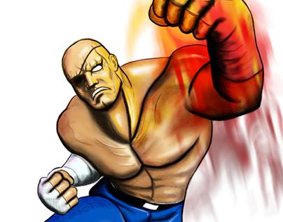 Sagat-Street Fighters (Illustration & Digital Art)