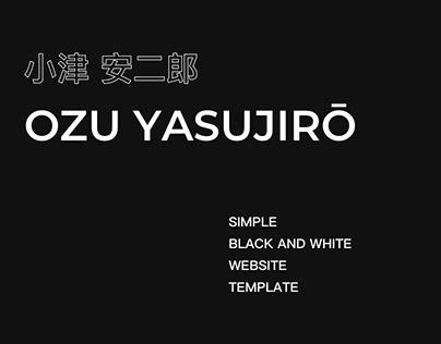 Free simple b/w website template