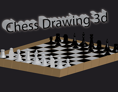 chess drawing 3d
