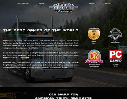 American Truck Simulator Lending Page