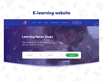 E-learning website for children