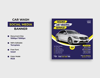 Car Washing Service Social Media Post Design