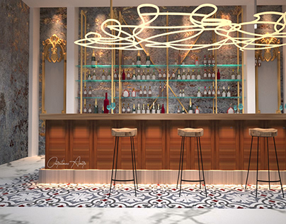 Restaurant design inspired from greek culture