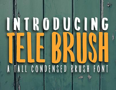 Tele Brush - Free Font