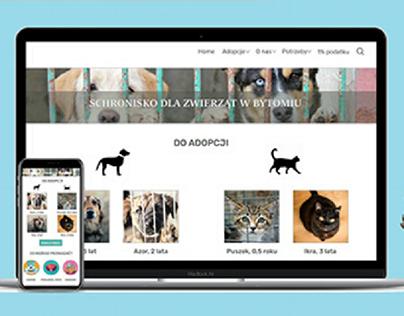 Animal Shelter website UX/UI design