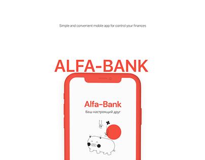 Concept for Alfa-Bank mobile app