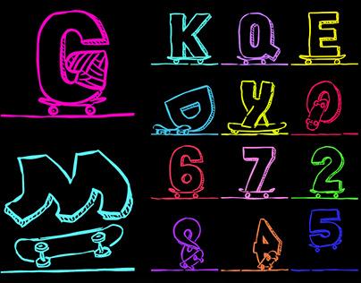 SkateR Initials Font (FREE)