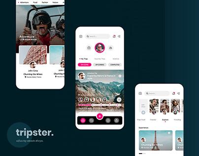 Tripster - UI/UX of Social Media App for Travelers