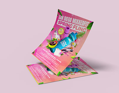 Fitness/Spring Party Flyer Design