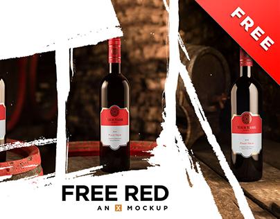 Cellar Free Red Wine Mockup