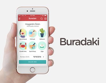 Buradaki Mobile Application UI / UX Design & Branding