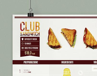 Visualize food - CLUB SANDWICH