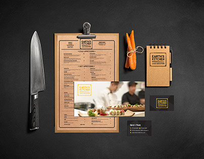 Earth's Kitchen Branding & Menus