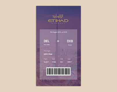 #DailyUi 024 - Boarding Pass