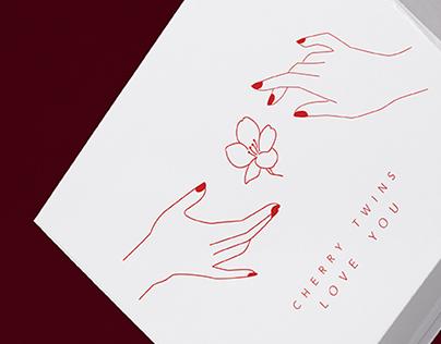 CHERRY TWINS logo & identity