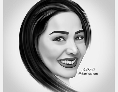 "Portrait Digital Painting, ""Mehrnaz Dabirzadeh"""