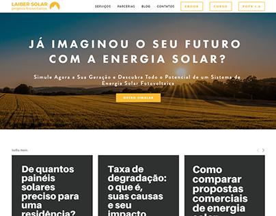 WebSite da Laiber Energia Solar
