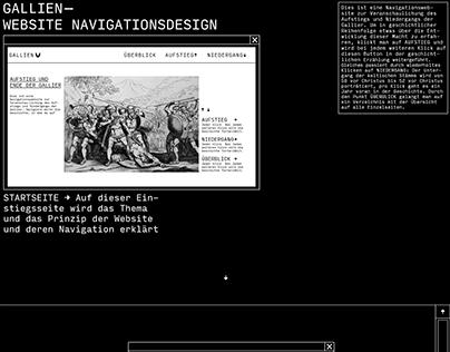 website über gallien, navigationsdesign