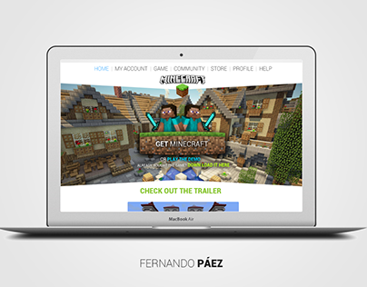 Redesign of Minecraft web