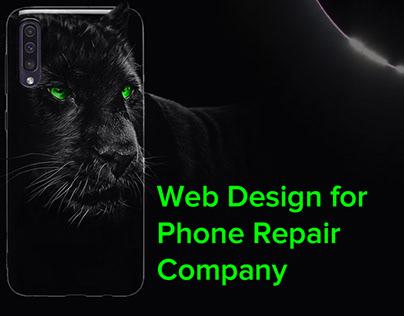 Landing for a phone repair company
