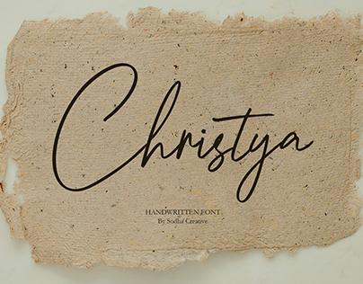 Christya Handwritten Font