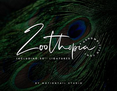 Zoothopia - Handwritten Font