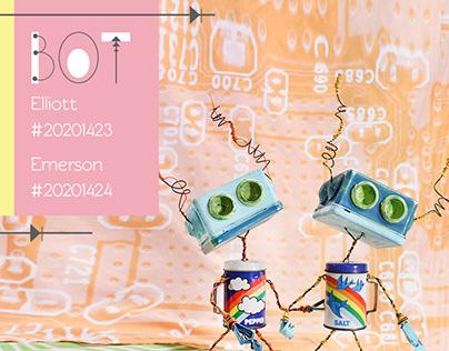 Rainbow Couple Robots