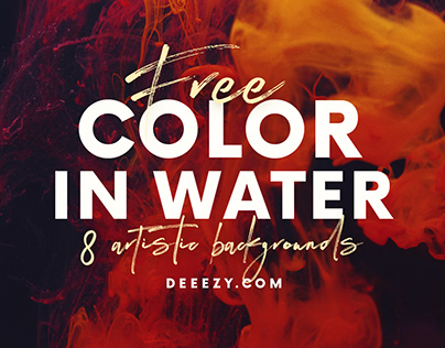 8 Free Color in Water Backgrounds