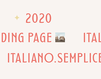 Landing page italian course