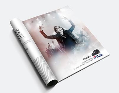 Fila Trailblazer Print Advertising