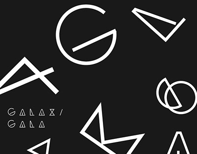 Galaxi Gala - futuristic font free