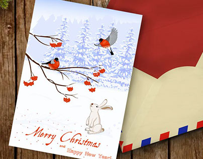 Greeting Cards Merry Cristmas