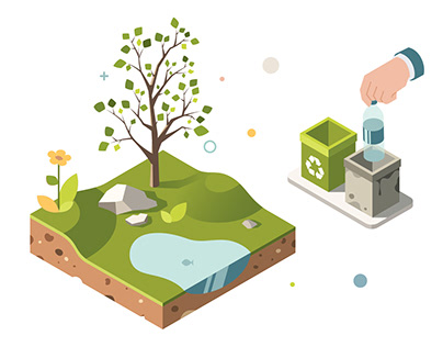 Ecology isometric animation
