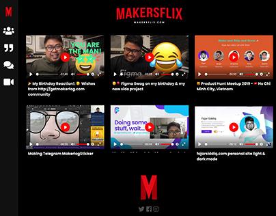 Makersflix.com UI/UX Mock-Up Design