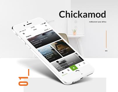 Chickamod App design