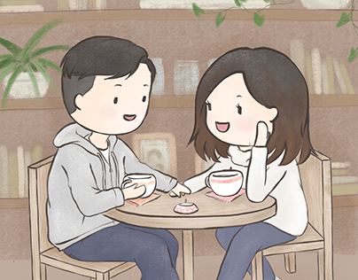 Illustration of a couple