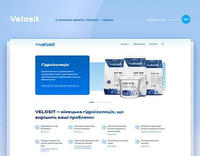 Velosit — online store website for a regional dealer