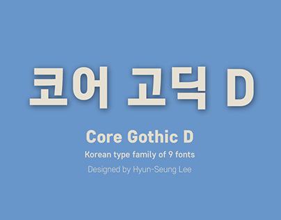 Core Gothic D_Korean Type Family (9 Fonts)