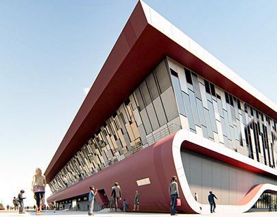 student project ın revıt archıtectural/ sport complex