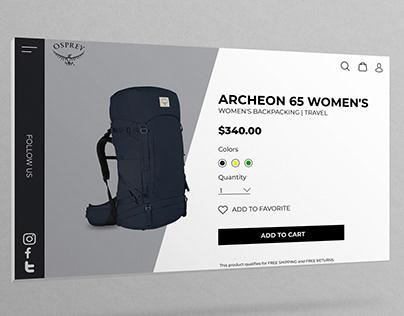 Single Product UI Design