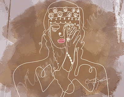 Abstract Woman Lineart