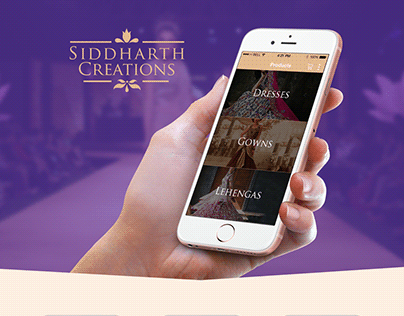 iPhone app design for Siddharth Creations