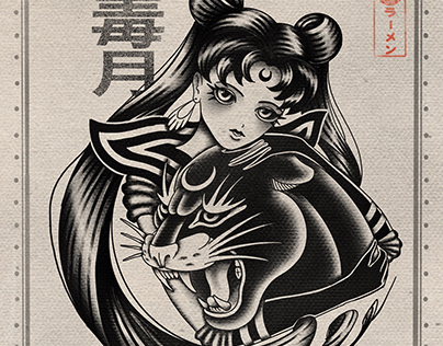 Dark Sailor Moon tattoo design
