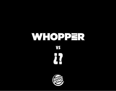 Burger King - Whopper vs ¿?