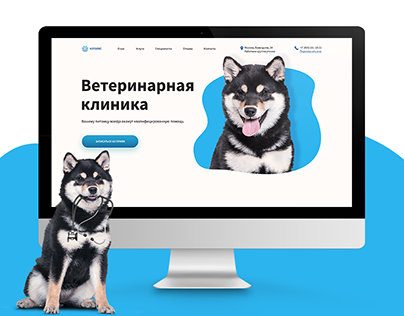 Landing page ветеринарной клиники