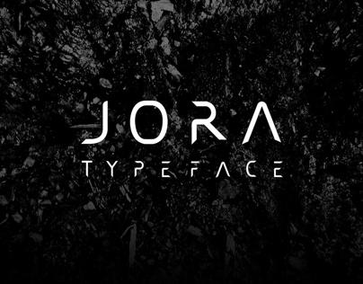 JORA typeface sans serif (concept)